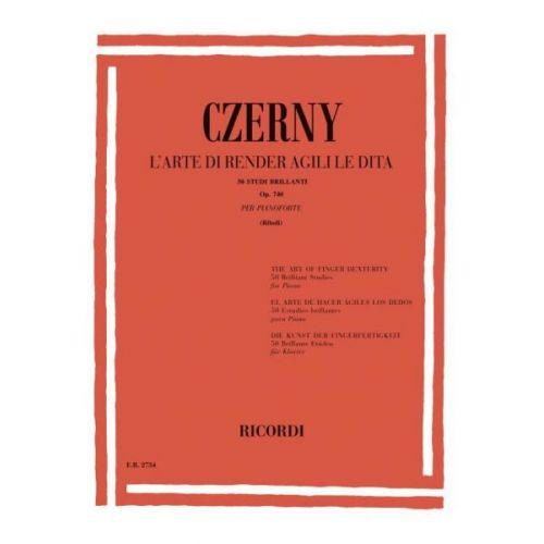 RICORDI CZERNY C. - ARTE DI RENDERE AGILI LE DITA 50 STUDI BRILLANTI OP.740 - PIANO