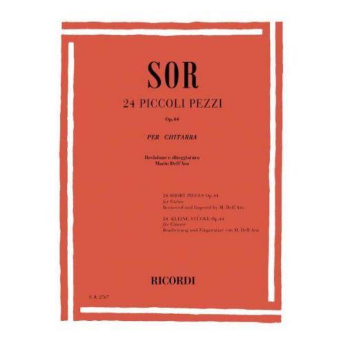 RICORDI SOR - 24 PICCOLI PEZZI OP.44 - GUITARE