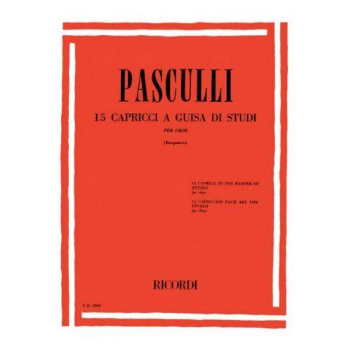 RICORDI PASCULLI A. - 15 CAPRICCI PER OBOE A GUISA DI STUDI - HAUTBOIS ET PIANO