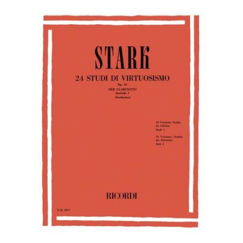 RICORDI STARK R. - 24 STUDI DI VIRTUOSISMO, OP. 51 - CLARINETTE