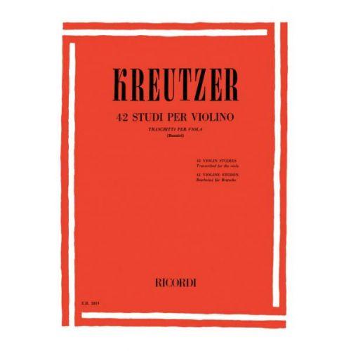 RICORDI KREUTZER R. - 42 STUDI PER VIOLINO - ALTO