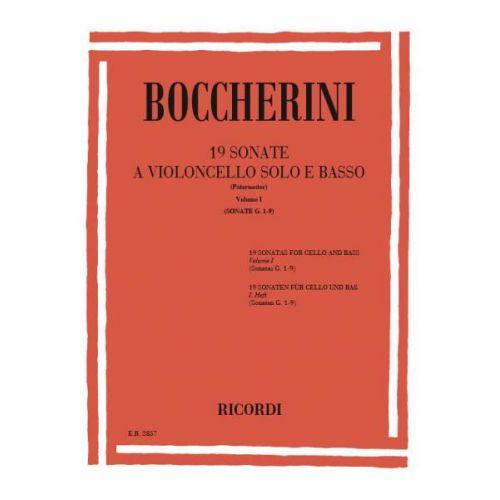 RICORDI BOCCHERINI L. - 19 SONATAS VOL. I G.1-9 - VIOLONCELLE ET PIANO