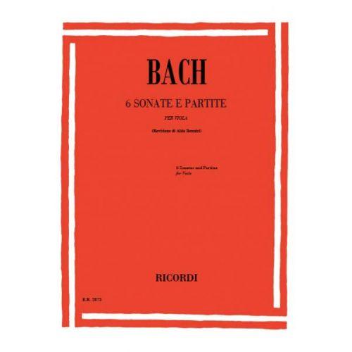 RICORDI BACH J.S. - 6 SONATAS E PARTITE SOLO BWV 1001-1006 - ALTO