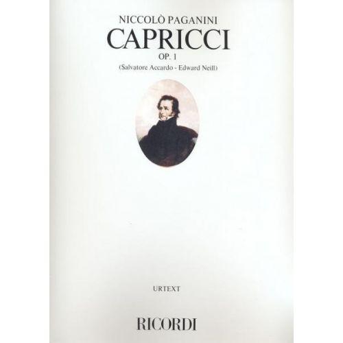 RICORDI PAGANINI N. - 24 CAPRICCI OP. 1 - VIOLON