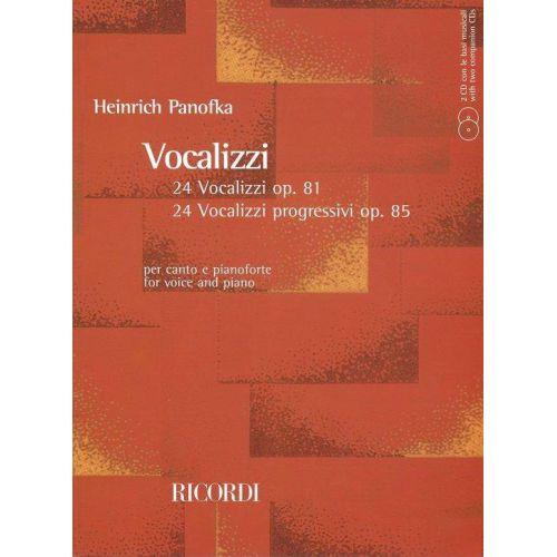 RICORDI PANOFKA H. - VOCALIZZI CON ACCOMPAGNAMENTO DI PIANOFORTE + 2 CD