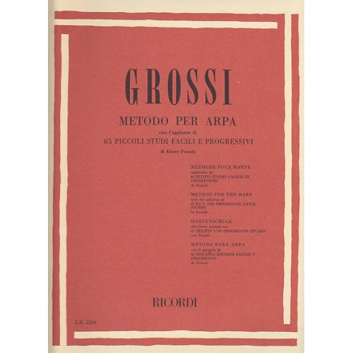 RICORDI GROSSI M. - METHODE POUR HARPE
