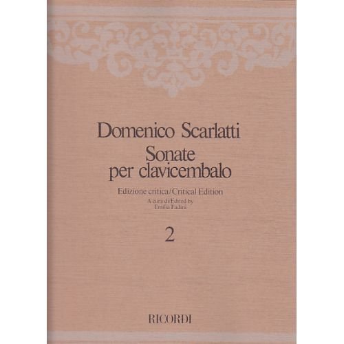 RICORDI SCARLATTI DOMENICO - SONATE PER CLAVICEMBALO - VOL. 2