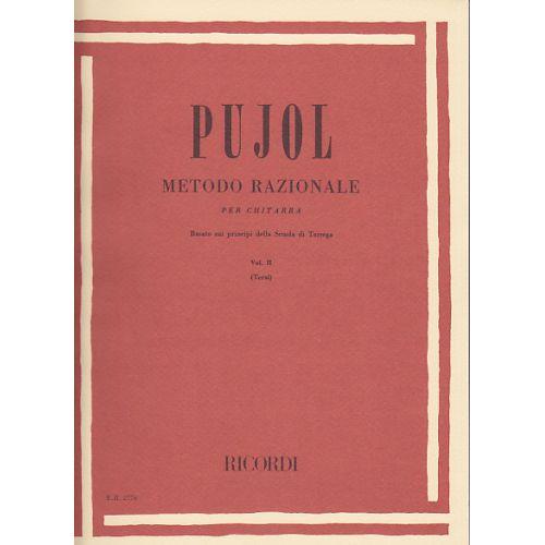 RICORDI PUJOL - METODO RAZIONALE PER CHITARRA VOL.2