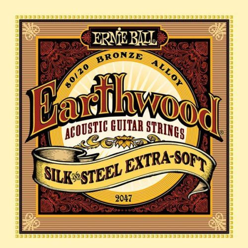 ERNIE BALL GITARRENSAITEN FOLK EARTHWOOD AKUSTISCH SILK STEEL EXTRA SOFT 10-50 2047