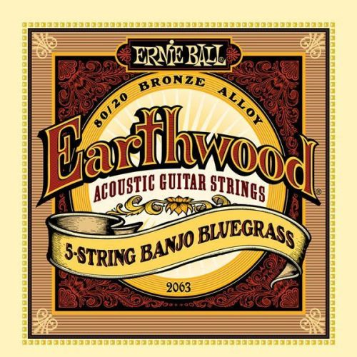 ERNIE BALL EARTHWOOD 5 STRINGS BANJO BLUGRASS 9-9 2063
