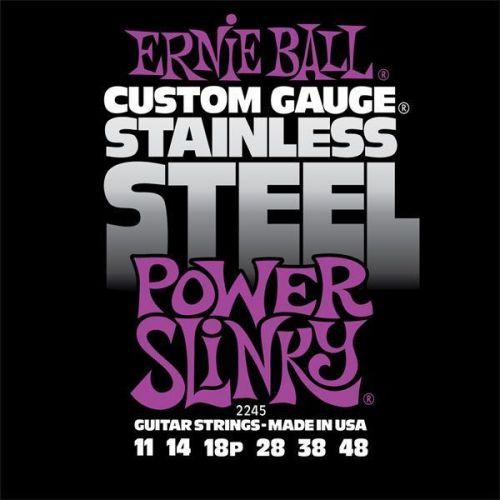 ERNIE BALL GITARRENSAITEN ELEKTRISCH POWER SLINKY STAINLESS STEEL 11-48 2245