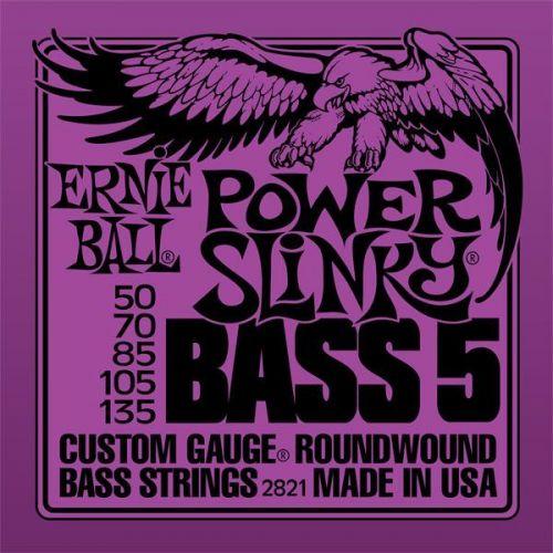 ERNIE BALL SAITEN BASS POWER SLINKY BASS 5 SAITEN 50-135 2821