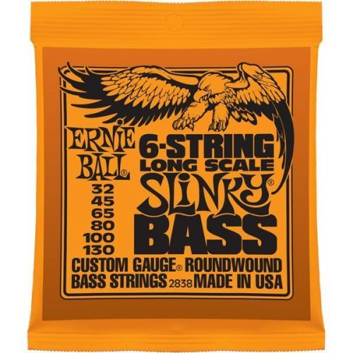 ERNIE BALL SAITEN BASS LONG SCALE SLINKY BASS 6 SAITEN 32-130 2838