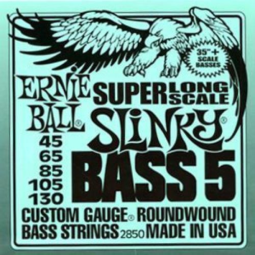 ERNIE BALL SUPER LONG SCALE SLINKY BASS 5 STRINGS 40-130 2850