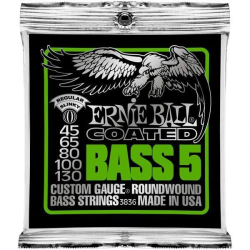 ERNIE BALL COATED BASS 5 STRINGS 45-130 3836