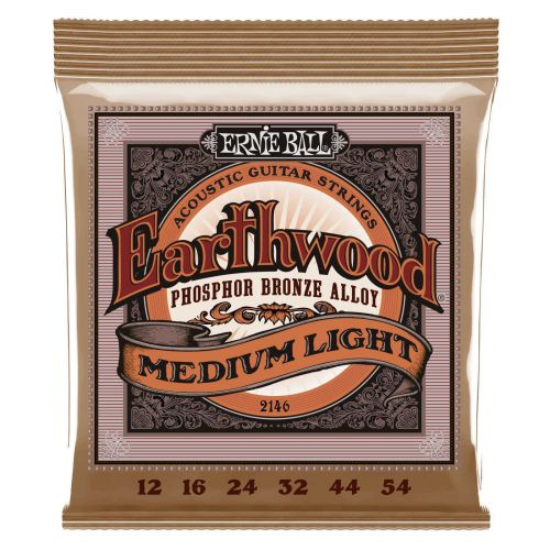 ERNIE BALL 2146 HEARTHWOOD MEDIUM LIGHT 12-54