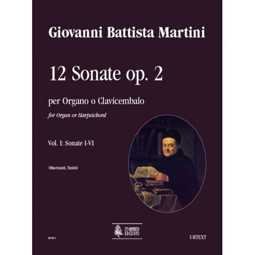 UT ORPHEUS MARTINI GIOVANNI BATTISTA - 12 SONATAS OP.2 (AMSTERDAM 1742) VOL.1 : SONATAS N°1-6 - ORGAN