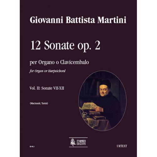 UT ORPHEUS MARTINI GIOVANNI BATTISTA - 12 SONATAS OP.2 (AMSTERDAM 1742) VOL.2 : SONATAS N°7-12 - ORGAN OR HARPS