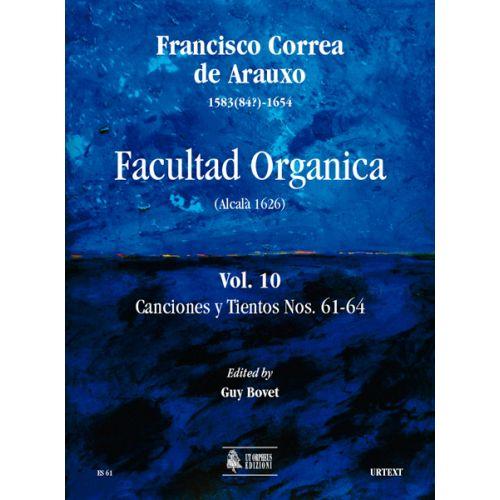 UT ORPHEUS CORREA DE ARAUXO FRANCISCO - FACULTAD ORGANICA (ALCALA 1626) VOL.10 : CANCIONES Y TIENTOS N°61-64