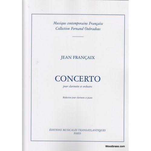 TRANSATLANTIQUES FRANCAIX JEAN - CONCERTO POUR CLARINETTE