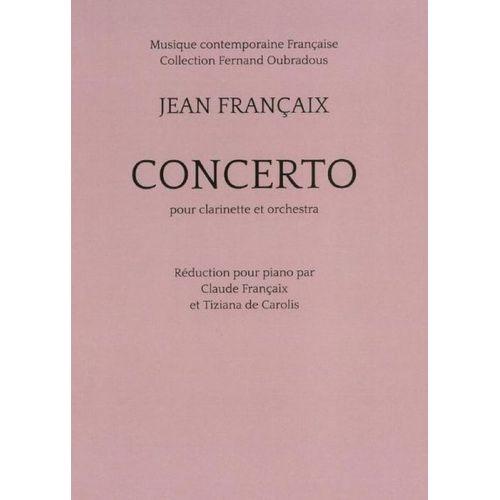 TRANSATLANTIQUES FRANCAIX JEAN - CONCERTO POUR CLARINETTE (REDUCTION PIANO)