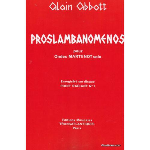 TRANSATLANTIQUES ABBOTT A. - PROSLAMBANOMENOS - ONDES MARTENOT<br /><br /><br />