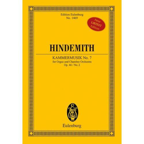SCHOTT HINDEMITH P. - Chamber Music No. 7 op. 46/2 - orgue