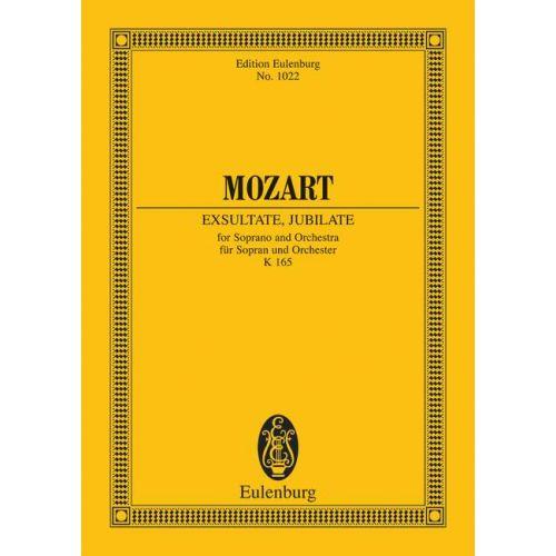 EULENBURG MOZART W.A. - EXSULTATE, JUBILATE KV 165 - SOPRANO AND ORCHESTRA