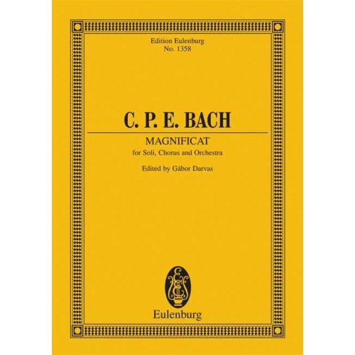 EULENBURG BACH C.P.E - MAGNIFICAT H 772 - 5 SOLOISTS, CHOIR AND ORCHESTRA
