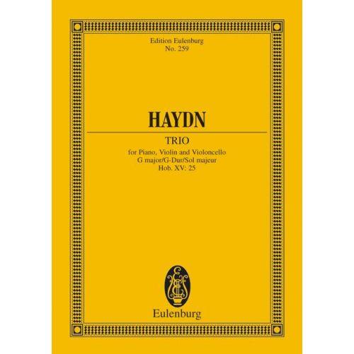 EULENBURG HAYDN JOSEPH - PIANO TRIO G MAJOR HOB XV: 25 - PIANO TRIO