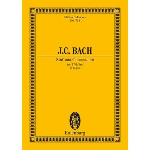 EULENBURG BACH J.C. - SINFONIA CONCERTANTE EB MAJOR - 2 VIOLINS AND ORCHESTRA
