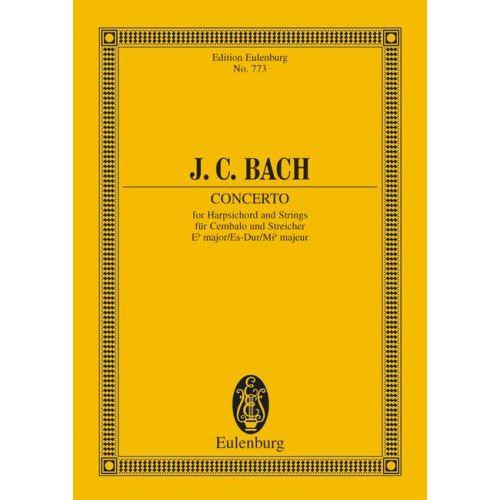 EULENBURG BACH J.C. - CONCERTO EB MAJOR - HARPSICHORD AND STRINGS