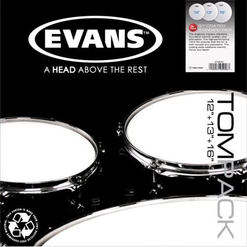 EVANS TPEC2SCLRR - TOM PACK EC2S CLEAR ROCK