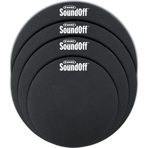 "EVANS SO0244 - SOUND OFF MUTE SET FUSION SIZES 10"" - 12"" - 14"" - 14"""