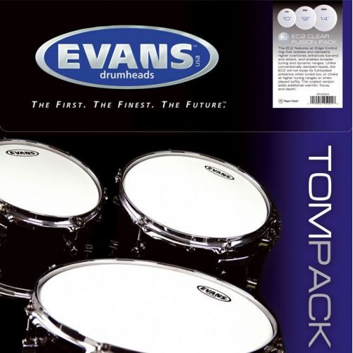EVANS TPG2CLRR - TOM PACK G2 CLEAR ROCK