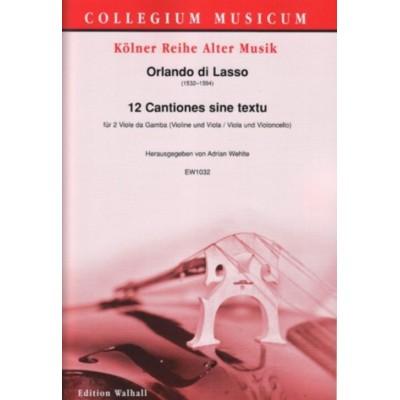 WALHALL LASSO ORLANDO DI - 12 CANTIONES SINE TEXTU - 2 VIOLES DE GAMBE