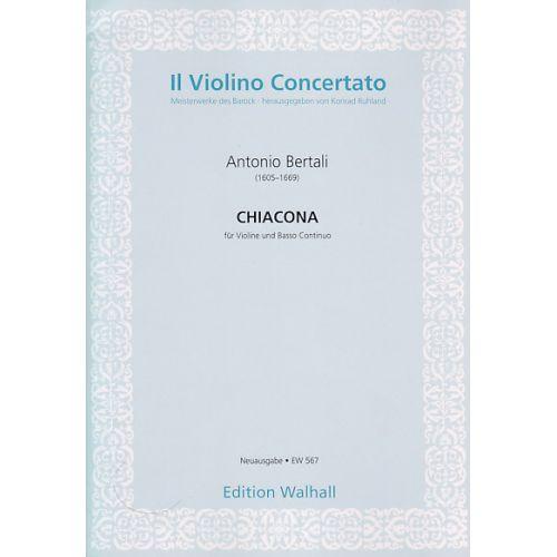 WALHALL BERTALI A. - CHIACONA IN D - VIOLON ET BC