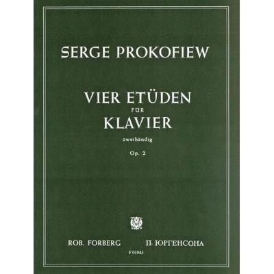 FORBERG PROKOFIEV SERGEI - VIER ETÜDEN (COMPLETE) OP.2 - PIANO