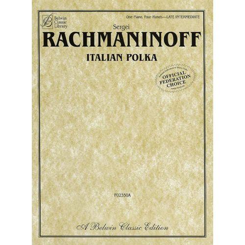 ALFRED PUBLISHING RACHMANINOFF ITALIAN POLKA - PIANO SOLO