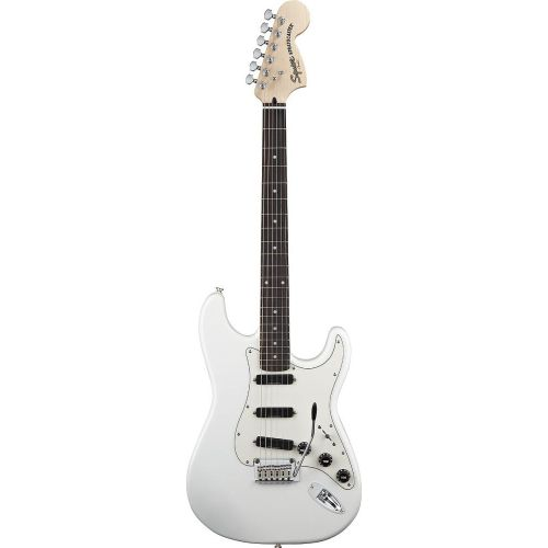 SQUIER BY FENDER STRATOCASTER HOT RAILS OLYMPIC WHITE DELUXE