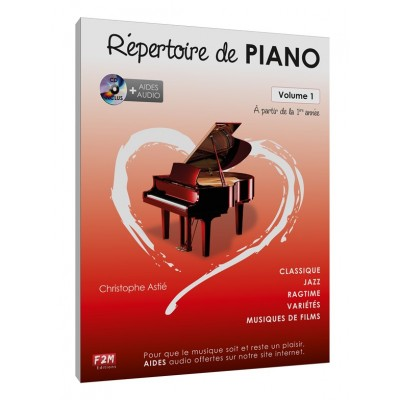 F2M EDITIONS ASTIE CHRISTOPHE - REPERTOIRE DE PIANO VOL.1 + CD