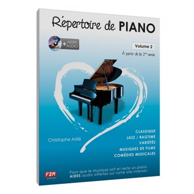 F2M EDITIONS ASTIE CHRISTOPHE - REPERTOIRE DE PIANO VOL.2 + CD