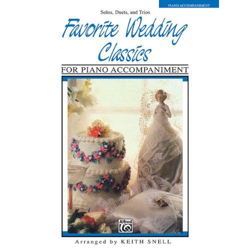 ALFRED PUBLISHING FAVOURITE WEDDING CLASSICS - PIANO