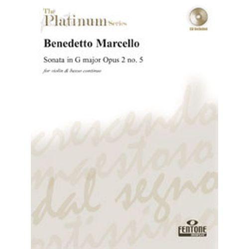 FENTONE MUSIC MARCELLO B. - SONATE OP 2 N°5 EN SOL MAJEUR + CD - VIOLON, BC