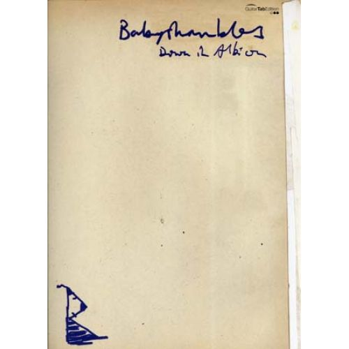 FABER MUSIC BABYSHAMBLES - DOWN IN ALBION GUITAR TAB