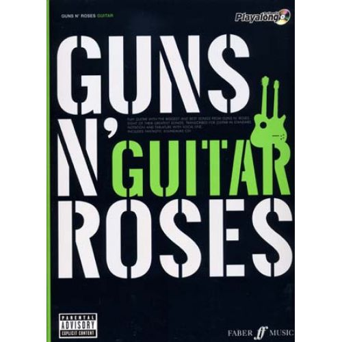 FABER MUSIC GUNS N' ROSES AUTHENTIC PLAY ALONG GUITAR TAB + CD