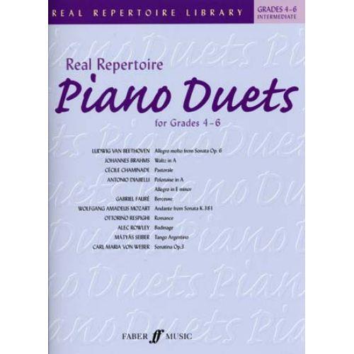 FABER MUSIC REAL REPERTOIRE PIANO DUETS GRADES 4-6 INTERMEDIATE