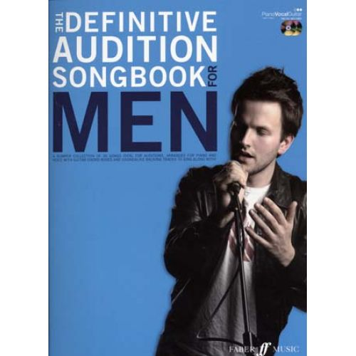 FABER MUSIC DEFINITIVE AUDITION SONGBOOK FOR MEN + 2 CD - PVG