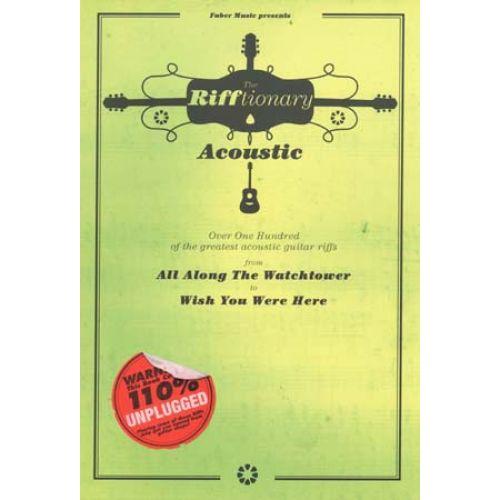 FABER MUSIC RIFFTIONARY ACOUSTIC - GUITAR TAB