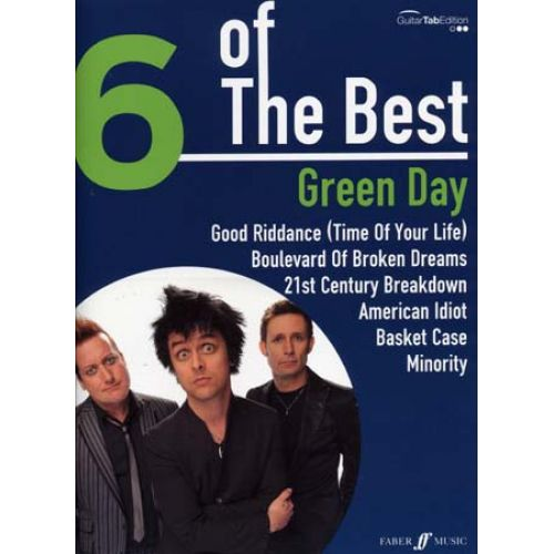 FABER MUSIC GREEN DAY - 6 OF THE BEST - GUITAR TAB